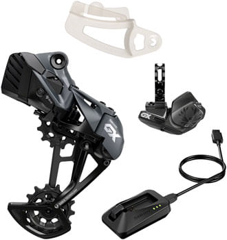 SRAM GX Eagle Upgrade Kit - Rear Derailleur, Battery, Eagle AXS Controller w/ Clamp, Charger/Cord, Chain Gap Tool, Black
