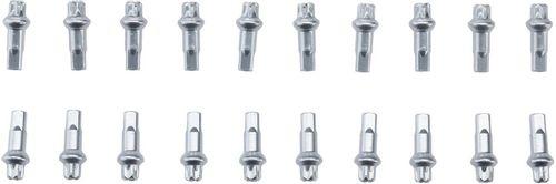 DT Swiss Squorx Pro Head Aluminum Nipples: 1.8 x 15mm, Silver, Box of 20