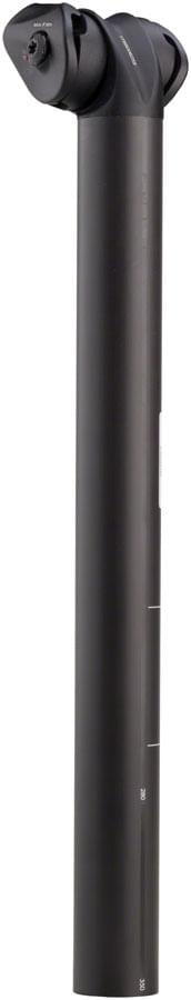 3T Zero25 Team Stealth Seatpost: 27.2x350mm, 25mm Offset, Black