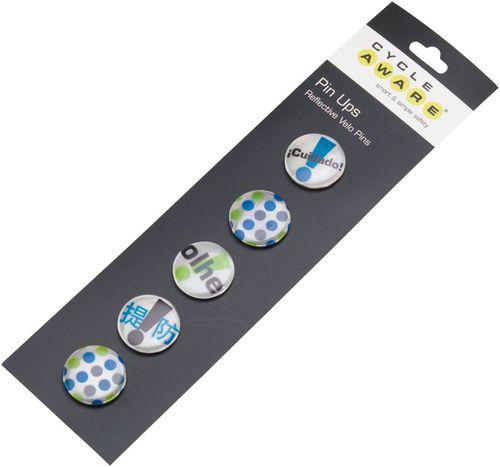 CycleAware Pin Ups Reflective Velo Pins: Silver
