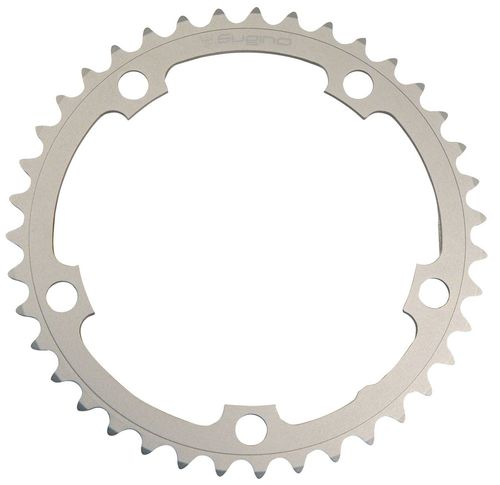 Sugino 42t x 130mm 5-Bolt Chainring, Anodized Silver