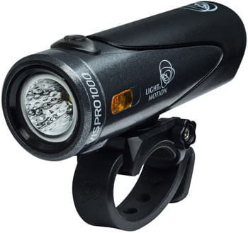Light and Motion VIS Pro 1000 Rechargeable Headlight: Blacktop Charcoal/Black