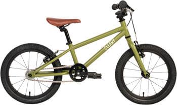 """Cleary Bikes Hedgehog 16"""" Single Speed Bike - Desert Green/Cream"""