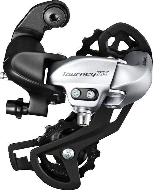 Shimano Tourney RD-TX800 Rear Derailleur - 8 Speed, Long Cage, Silver, Shimano Rear Direct Mount
