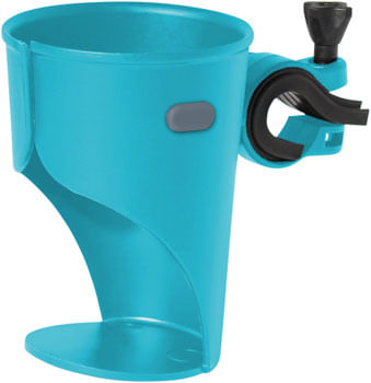 Delta Grande Beverage Holder /Water Bottle Cage - Handlebar Mounted, Blue