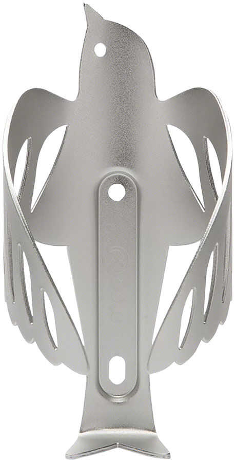 Portland Design Works Sparrow Cage Water Bottle Cage: Silver
