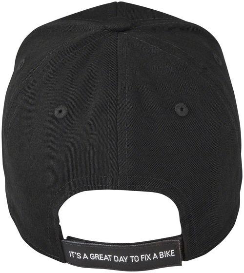 Park Tool HAT-9 Classic Logo Ball Cap, Black, Blue/White Logo