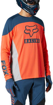 Fox Racing Defend Long Sleeve Jersey - Atomic Punch, Men's, Small