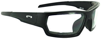 Mountain Shades Roscoe Safety Glasses - Matte Black, Clear Lens