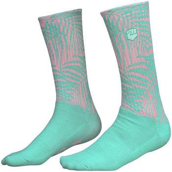 Fist Handwear The Palm Crew Sock - Green/Pink, Large