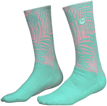 Fist-Handwear-The-Palm-Crew-Sock---Green-Pink-Large-SK0402