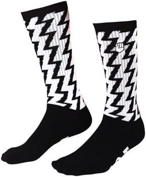 Fist Handwear Bolt Crew Sock - Black/White, Small/Medium