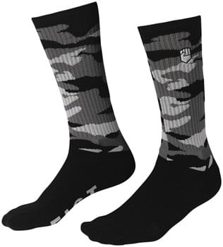 Fist Handwear Covert Camo Crew Sock - Black/Gray, Small/Medium