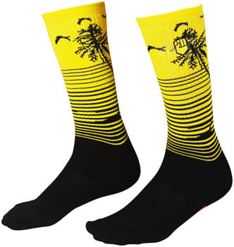 Fist-Handwear-Miami--Phase-2-Crew-Sock---Black-Yellow-Large-X-Large-SK0025