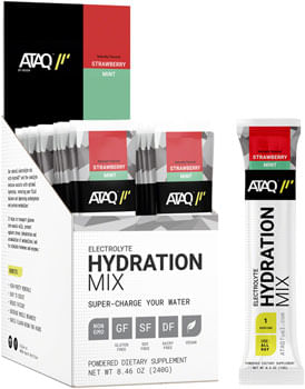 ATAQ by MODe Hydration Mix - Strawberry Mint, Box of 16 Single Serving Packets