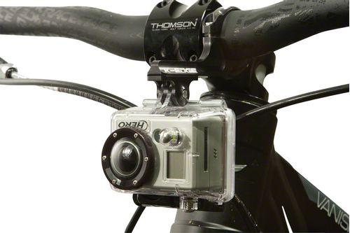 K-EDGE Go Big Pro Universal Action Camera and Light Dual Side Handlebar Mount 31.8mm: Black