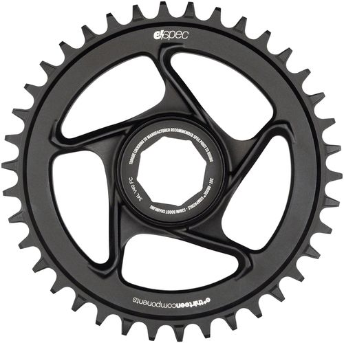 e*thirteen by The Hive e*spec Aluminum Direct Mount Chainring 38t for Brose S Mag, Black