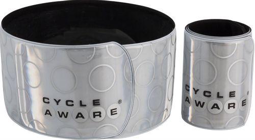 CycleAware Slap and Wrap Pant Leg Bands: Silver