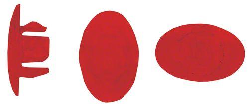 Velocity Rim Plug: Fits 7.7mm-8.3mm Diameter Holes, Red, Bag of 72