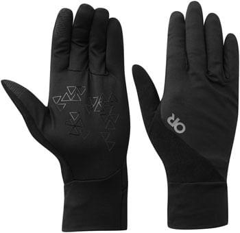 Outdoor Research Chain Reaction Sensor Liner Glove - Black, Full Finger, Small