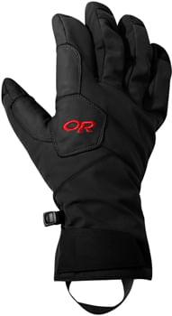 Outdoor Research Bitterblaze Aerogel Gloves - Black/Tomato, Full Finger, Men's, X-Large