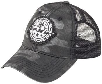 Spank Industrial Revolution Mesh Hat - Black/Camo, One Size