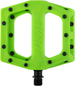 """DMR V11 Pedals - Platform, Composite, 9/16"""", Green"""