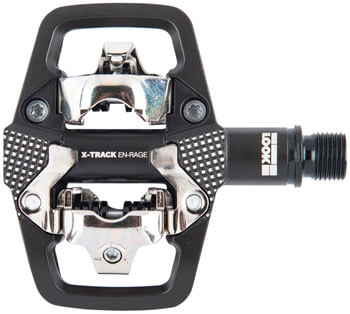 """LOOK X-TRACK EN-RAGE Pedals - Dual Sided Clipless with Platform, Chromoly, 9/16"""", Black"""