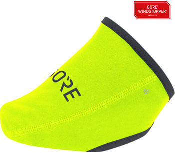 GORE C3 WINDSTOPPER® Toe Cover - Neon Yellow, Fits Shoe Sizes 4.5-8