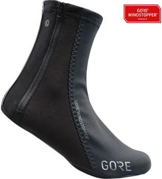 GORE C5 WINDSTOPPER® Overshoes - Black, Fits Shoe Sizes 6.5-8