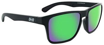 Optic-Nerve-Rumble-Sunglasses---Matte-Black-Polarized-Smoke-Lens-with-Green-Mirror-EW2086