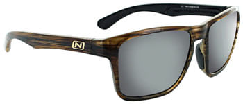 Optic Nerve Rumble Sunglasses - Shiny Driftwood Demi, Polarized Brown Lens with Silver Flash Mirror