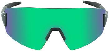 Optic Nerve FixeBLAST Sunglasses -  Shiny Grey, Smoke Lens with Green Mirror