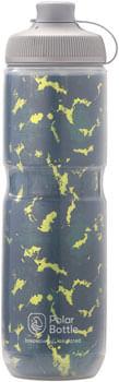 Polar Bottles Breakaway Muck Insulated Shatter Water Bottle - 24oz, Forest/Lightning