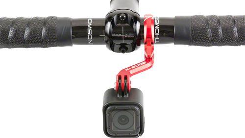 K-EDGE Go Big Pro Universal Action Camera and Light On-Center Handlebar Mount 35.0mm: Black