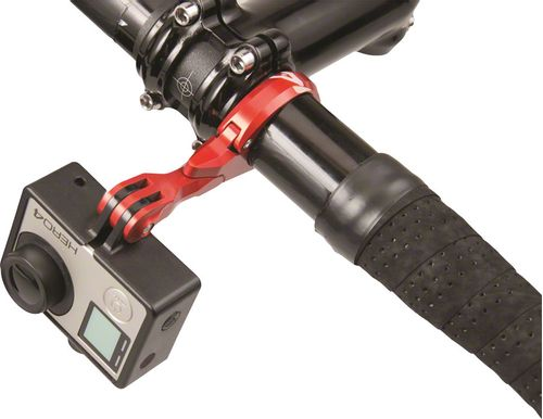K-EDGE Go Big Pro Universal Action Camera and Light Handlebar Mount 35.0mm: Black