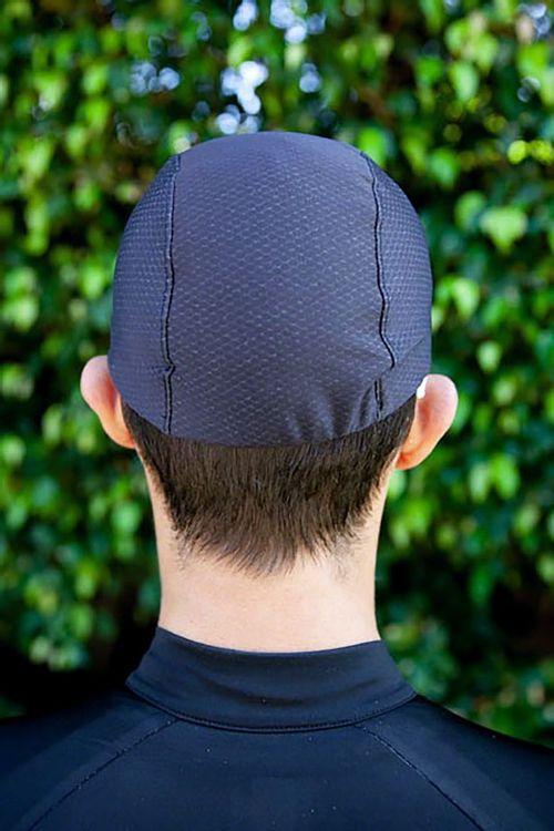 Pace Sportswear Hex-Tek Cycling Cap - UPF 50 Plus, Black, MD/LG