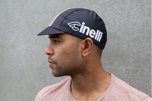 Pace Sportswear Hex-Tek Cycling Cap - UPF 50 Plus, Cinelli/Black, One Size
