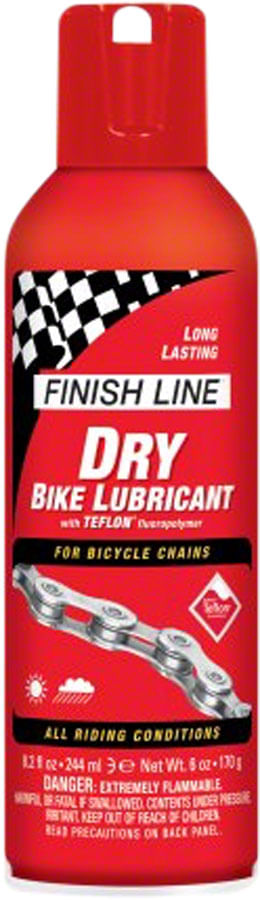 Finish Line DRY Bike Chain Lube - 8 fl oz, Aerosol