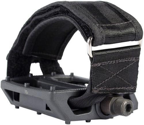 "Fyxation Pedal and Strap Kit Pedals - Platform, Plastic, 9/16"", Black"