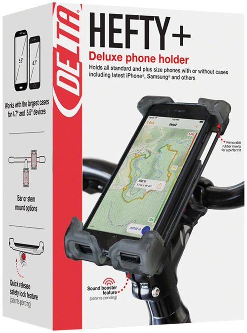 Delta Hefty Holder Plus Smartphone Bike Mount - Clear Gray