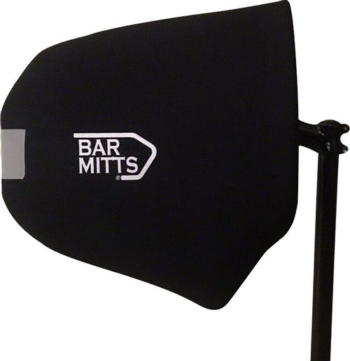 Bar Mitts Dual Position Road Pogie Handlebar Mittens: Externally Routed Shimano, One Size, Black
