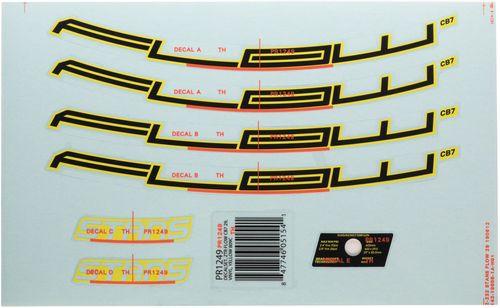 "Stan's No Tubes Flow CB7 Rim Decal - 27.5"", Yellow, Set"
