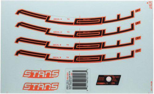 "Stan's No Tubes Flow CB7 Rim Decal - 27.5"", Orange, Set"