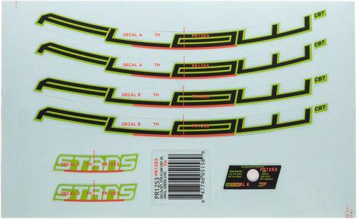 "Stan's No Tubes Flow CB7 Rim Decal - 29"", Green, Set"