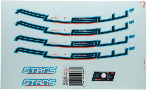 "Stan's No Tubes Flow CB7 Rim Decal - 27.5"", Blue, Set"