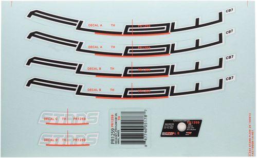 """Stan's No Tubes Flow CB7 Rim Decal - 27.5"""", White, Set"""