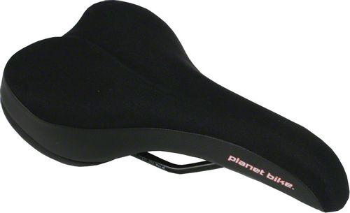 Planet Bike Comfort Gel Saddle - Steel, Black, Men's