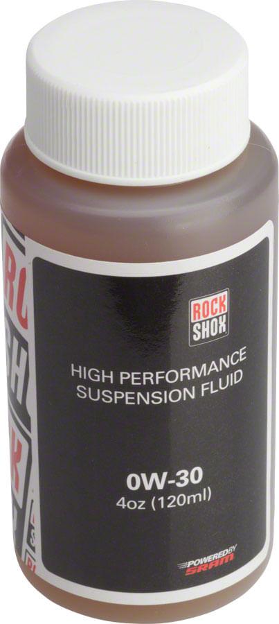 RockShox Suspension Oil, 0W-30, 120ml Bottle, Pike/Lyrik B1/Yari Lower Legs