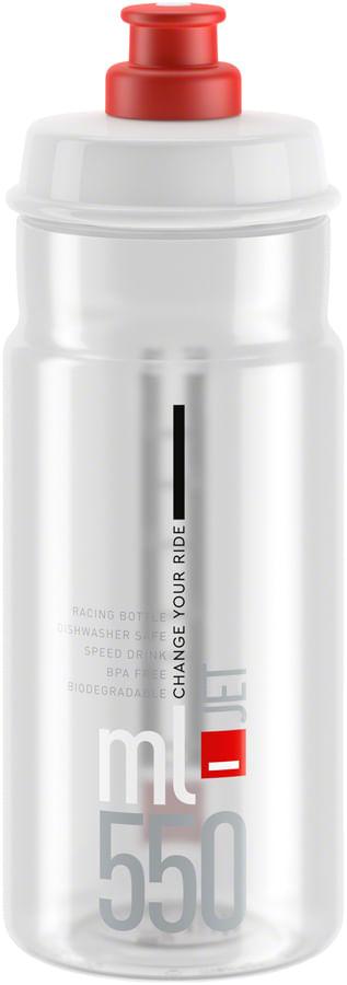 Elite SRL Jet Water Bottle 550ml - Clear/Red